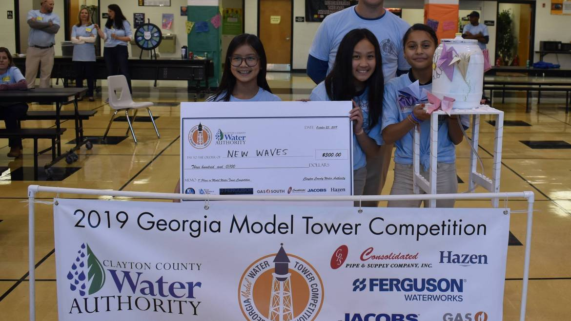 Babb Middle and Rex Mill Middle Students Recognized  for Winning Model Water Towers