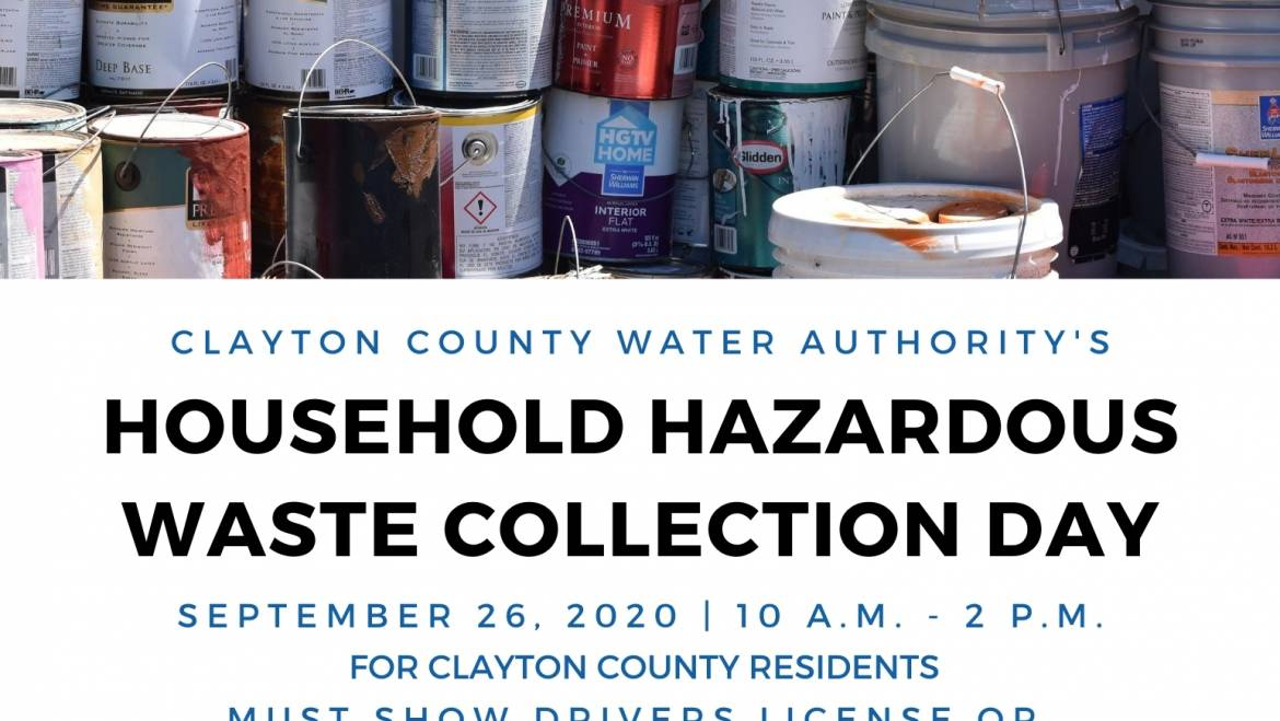 Household Hazardous Waste Collection Day for Clayton County Residents Being Held Saturday, September 26